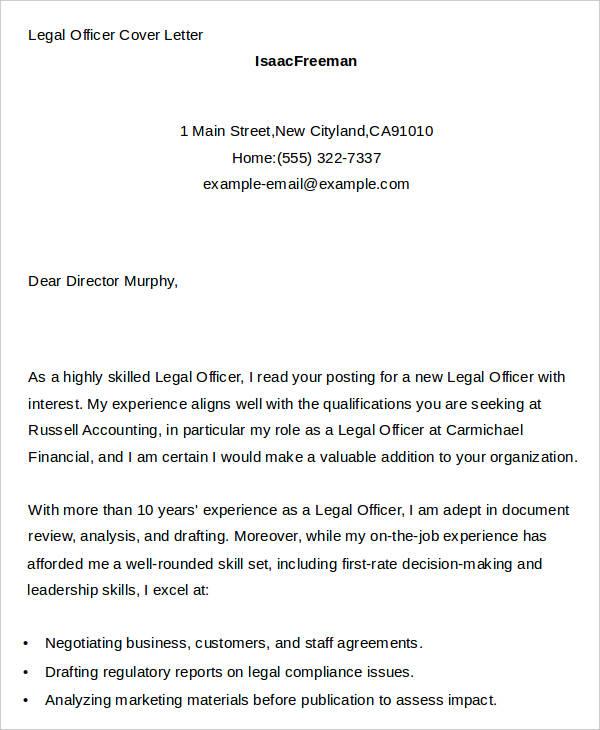 application for legal register cover letter