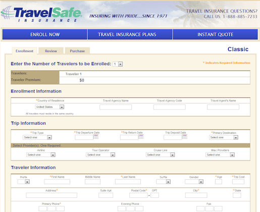 covermore travel insurance application forms