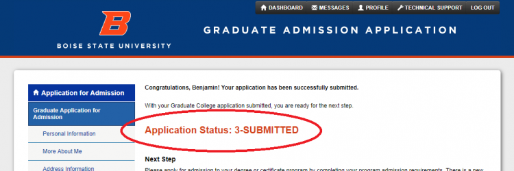 university of arizona graduate application status