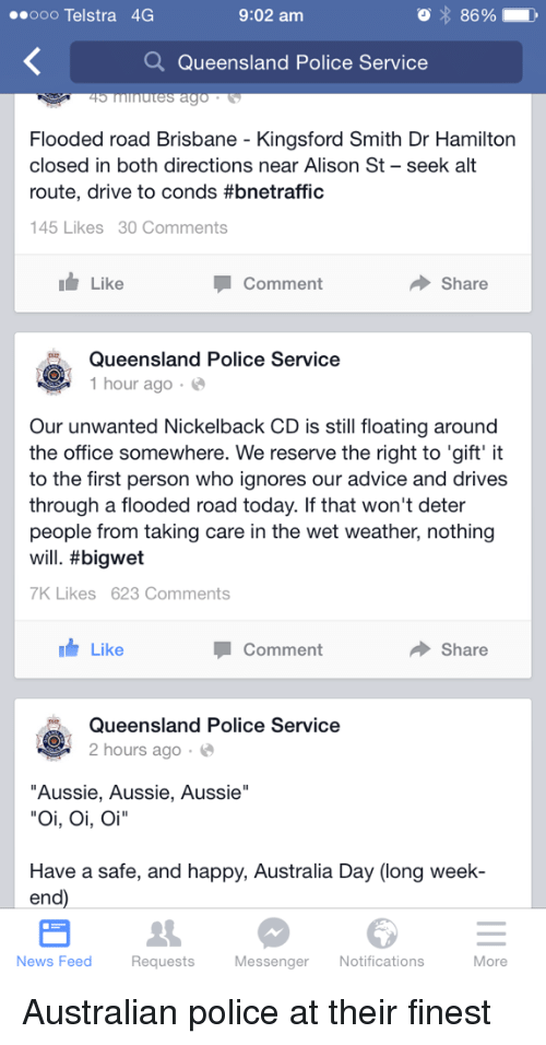 application to close a road qld police