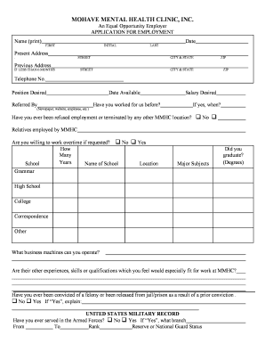 tribunal application form mental health
