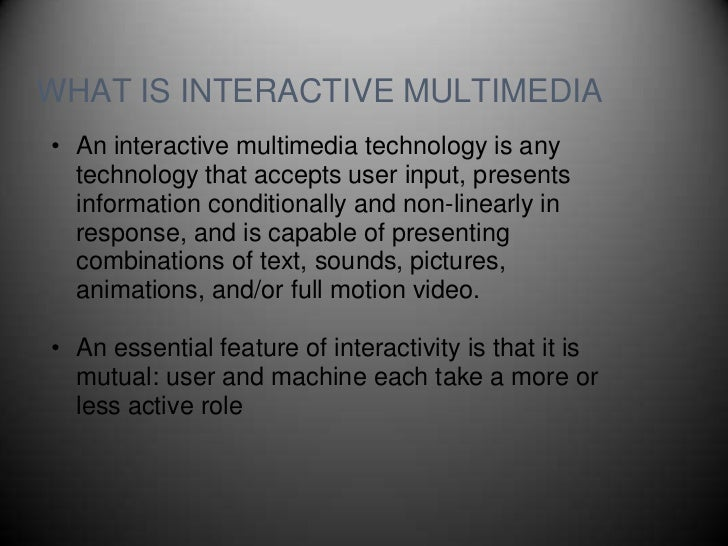 applications of interactive media graphics