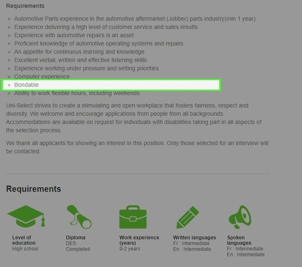what does assess mean on a job application