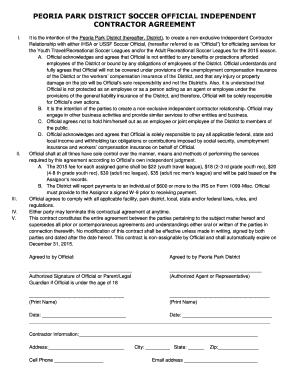 sample independent contractor application form