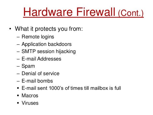 characteristics of application layer firewall