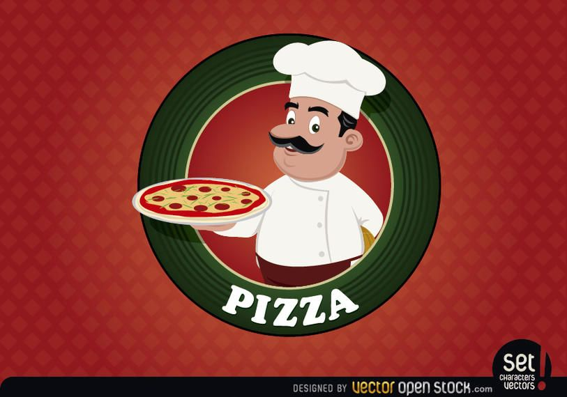 websites and applications logo red pizza circle