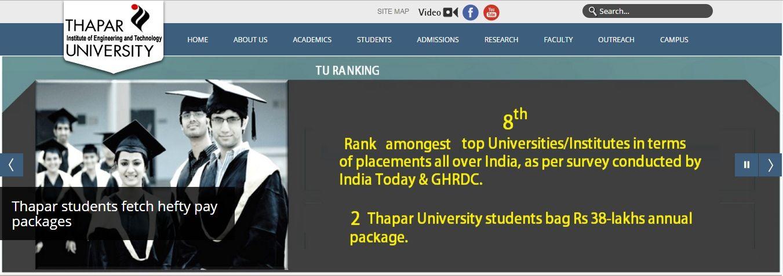 thapar university application form 2017