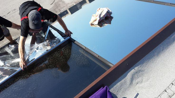 using window film exterior application