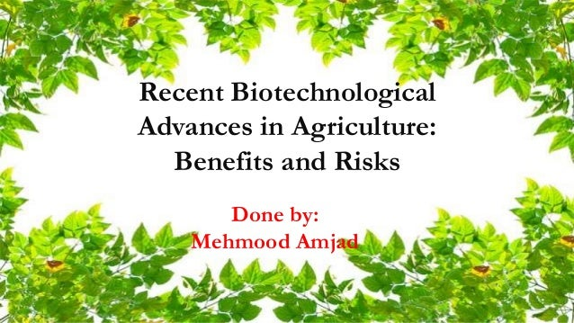 biotechnology and its applications in agriculture