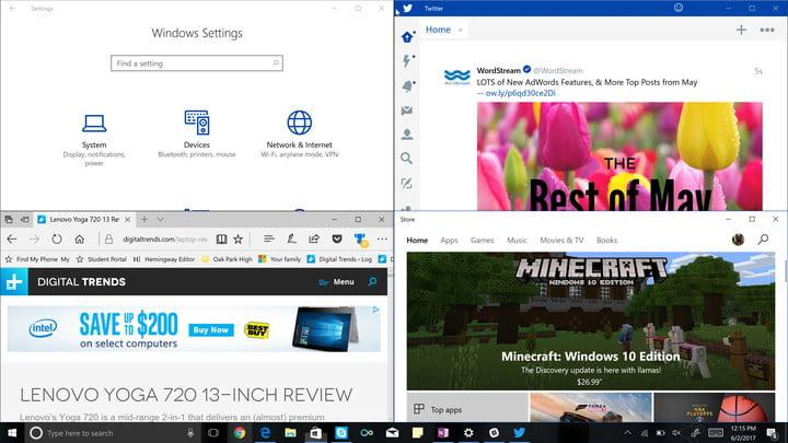 win 10 application for split screen