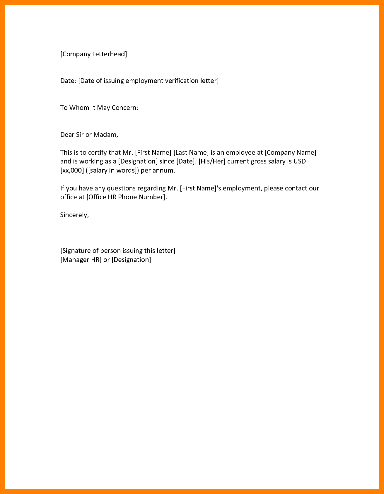 letter of application to whom it my concern