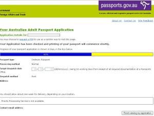 track passport application australia post
