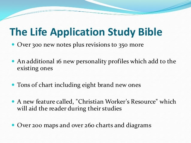 what iis the latest life application study bible