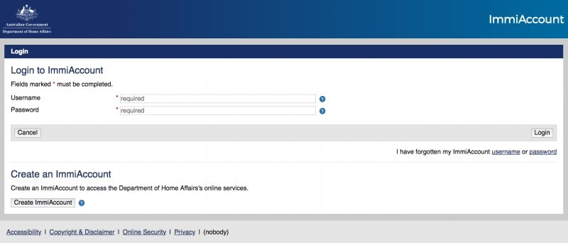 australian visa application requirements of the sponsor
