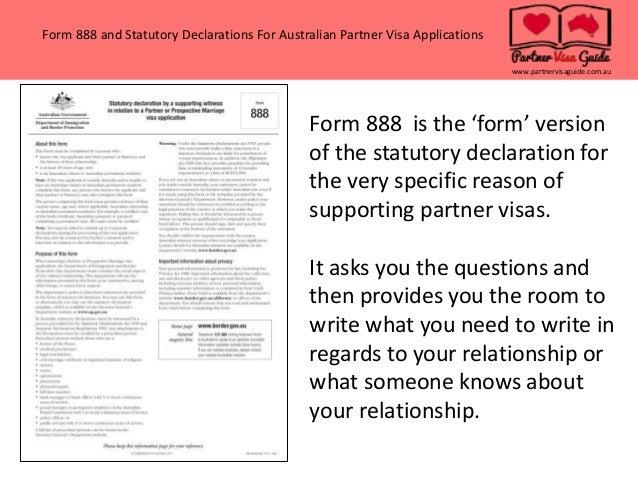 application for australian partner visa