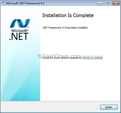 need a certain net framework version to install application