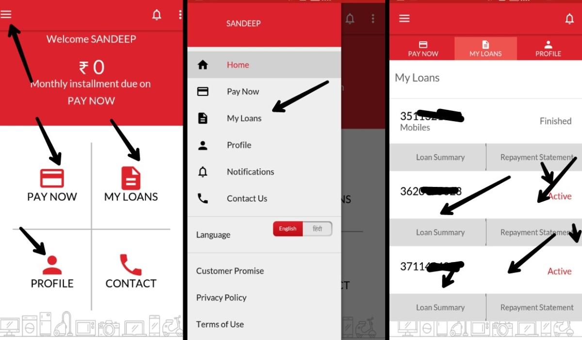 bajaj finance personal loan application status online