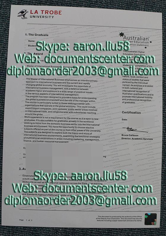 application diploma at latrobe university online