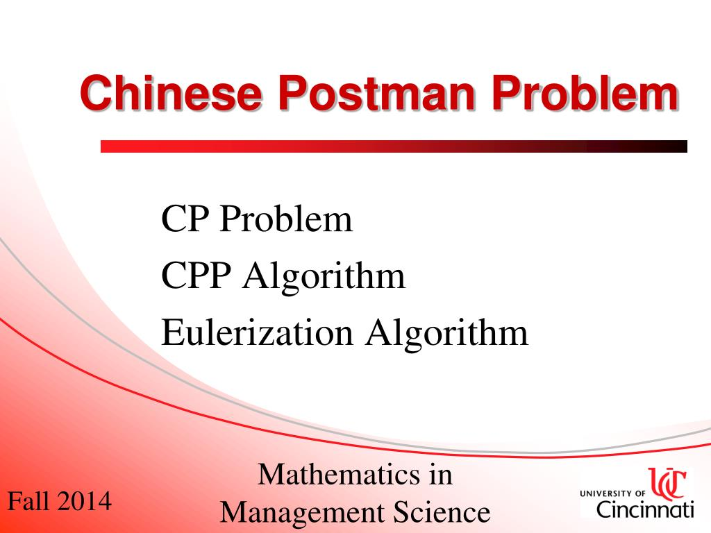 chinese postman problem an application