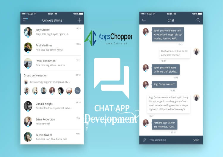 chat application development in android