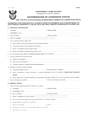 application form for citizenship south africa