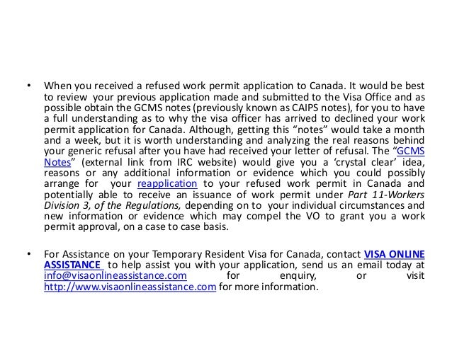 extended work permit application canada