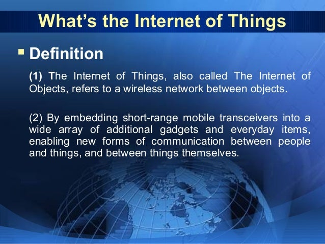 define internet of things applications