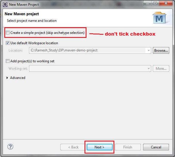 create web application in eclipse using maven