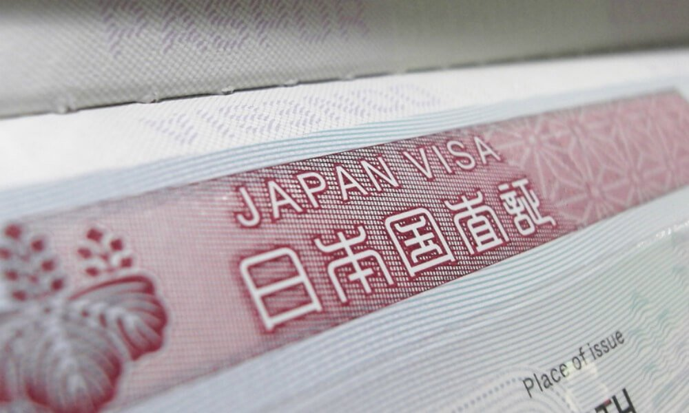 japan visa application from australis