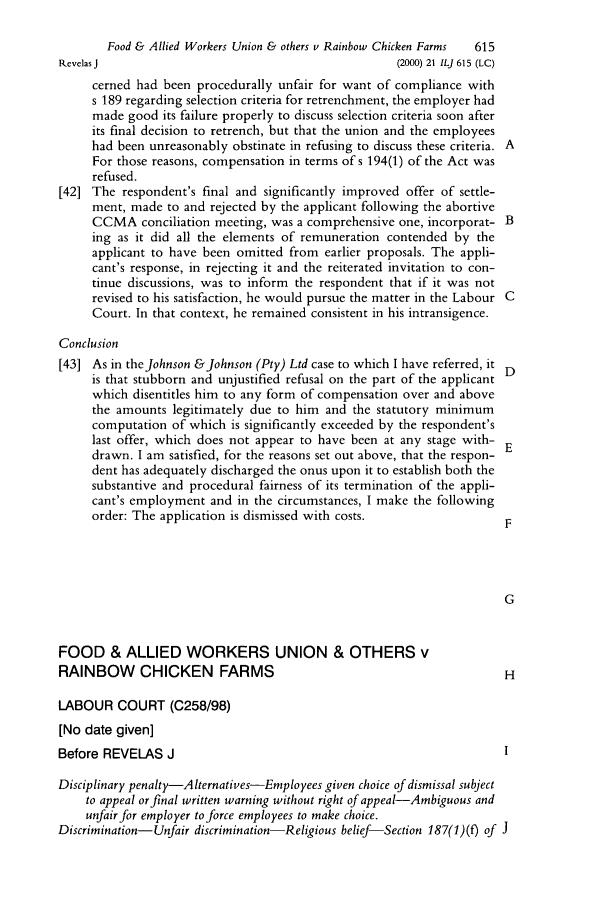 employer response to unfair dismissal application