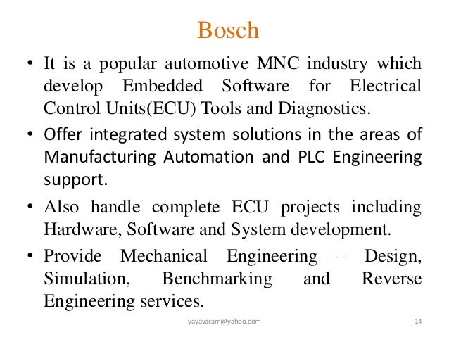 industrial application of embedded system