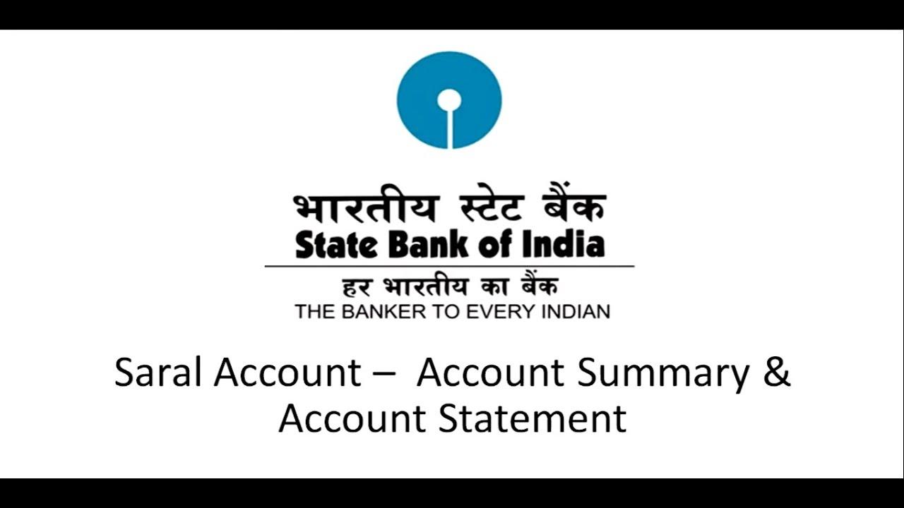 sbi bank account statement application