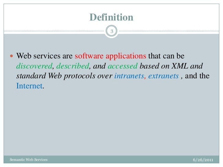semantic web applications and services