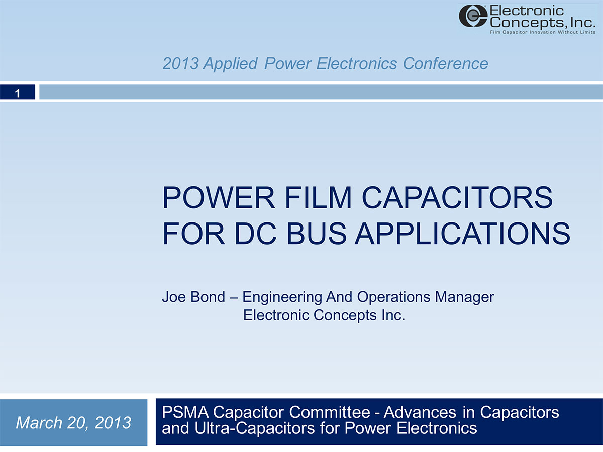 capacitor technologies and their application