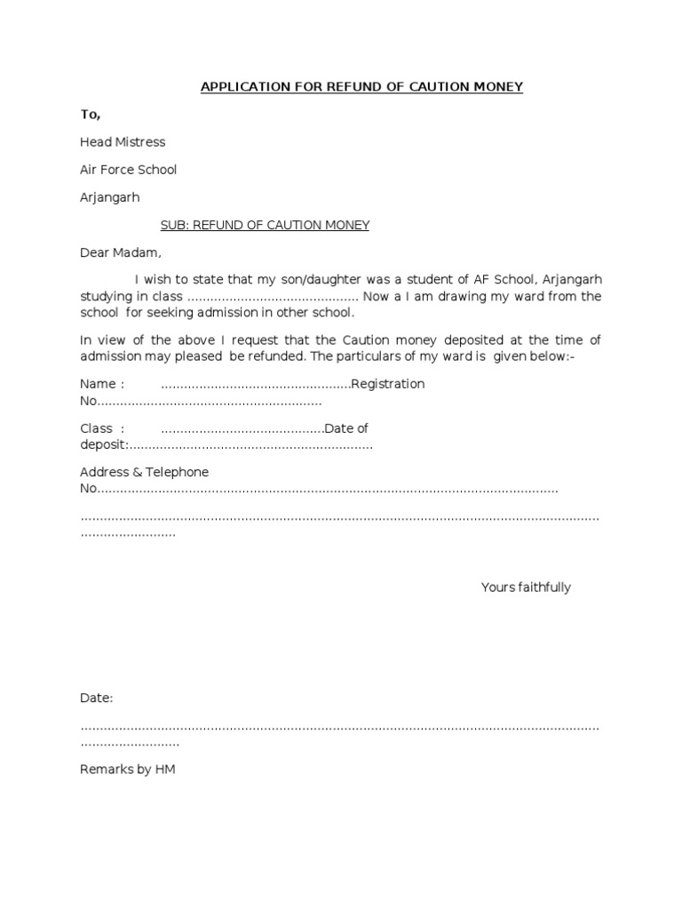 application for return my original document
