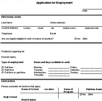 autozone job application print out