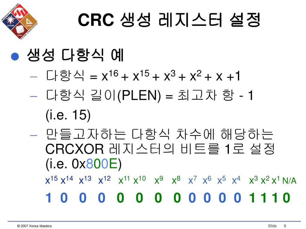 applications that use cyclic redundancy check