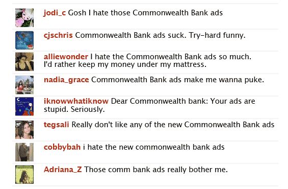 commonwealth bank problem with application