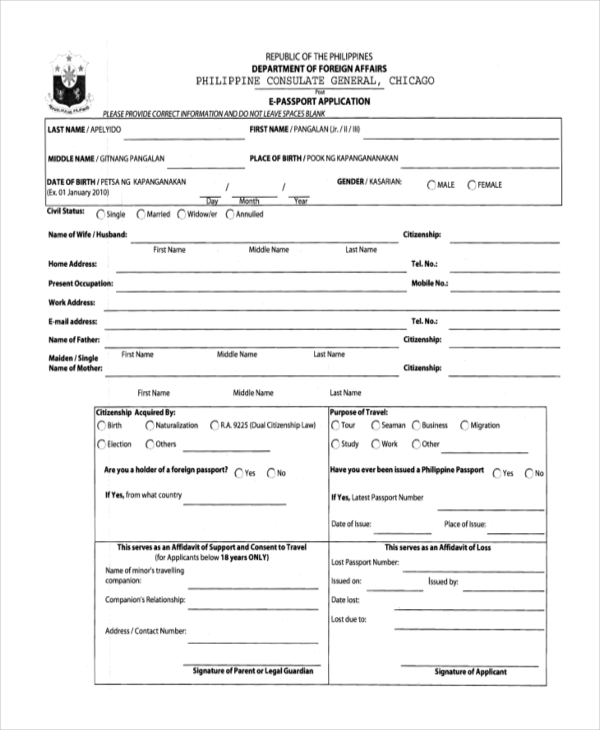 documents for passport application pdf