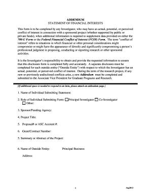 examples of an application addendum