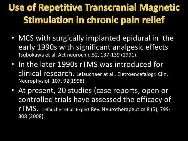 therapeutic application of repetitive transcranial magnetic stimulation a review