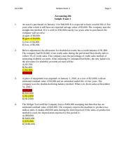 financial accounting applications exam sample