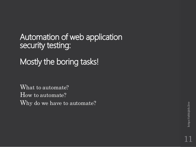 web application security testing scenarios