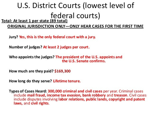 federal court application in a case
