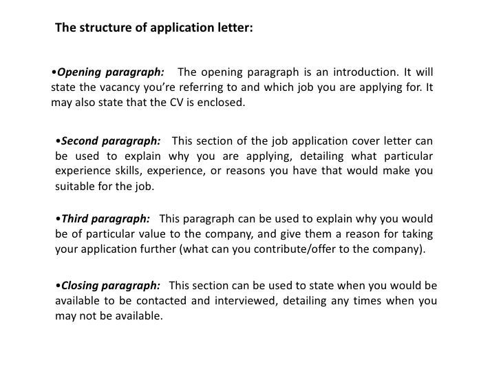 how should i start a job application letter