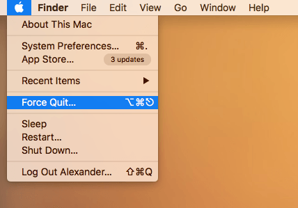 how to quit an application that isnt responding mac
