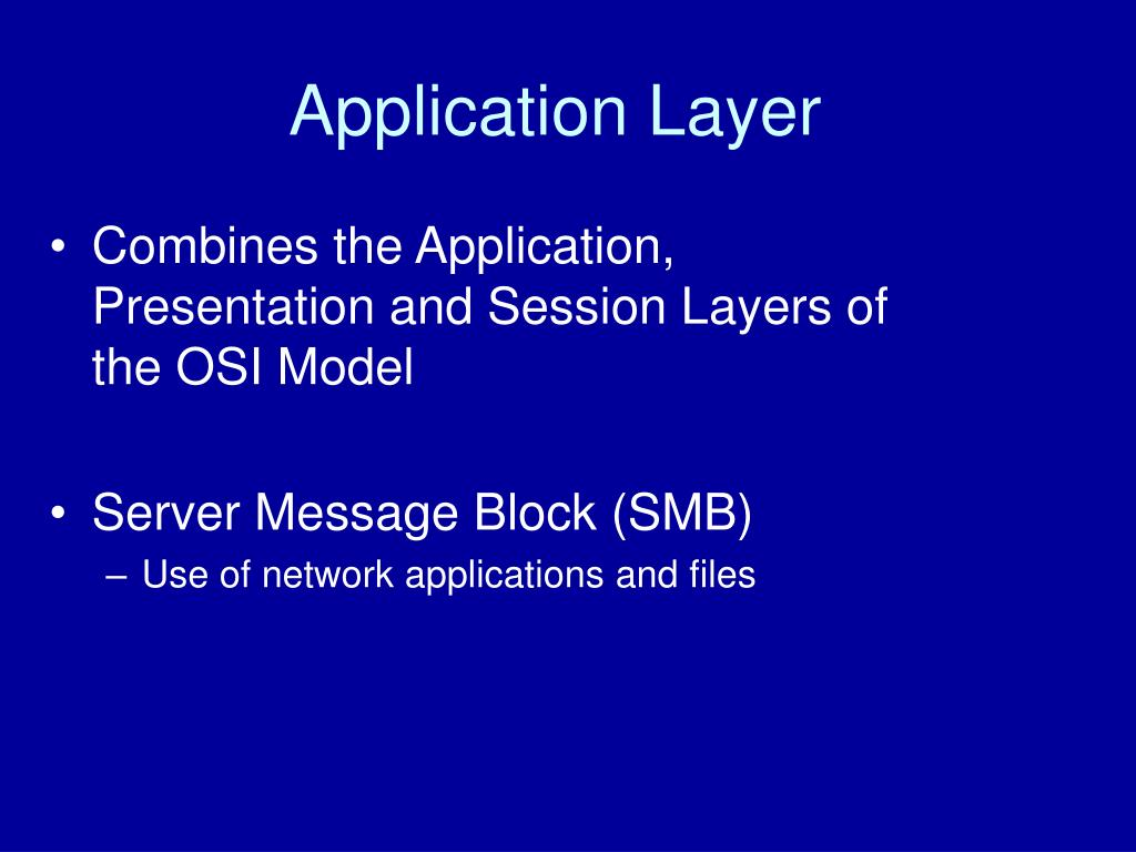 introduction to the application layer of internet model