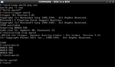 ms dos application to pdf