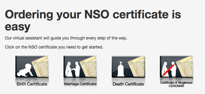 nso death certificate online application