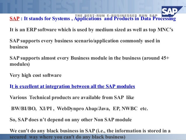 sap systems applications and products in data processing thailand limited